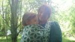 Ellie Harwood babywearing Danu salley gardens spring