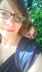 Ellie Harwood babywearing Firespiral Prism starmap